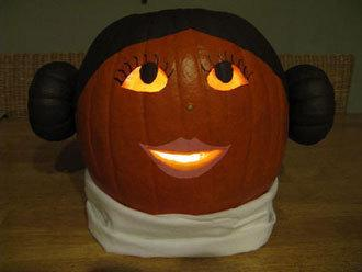 Princess Leia Pumpkin