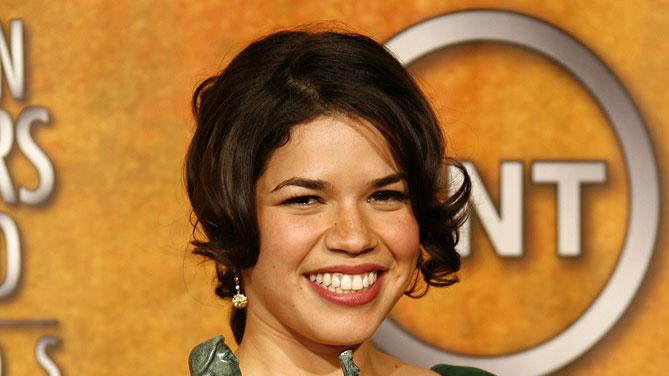 "America Ferrera, winner Outstanding Performance by a Female Actor in a Comedy Series for ""Ugly Betty"" at the 13th Annual Screen Actors Guild Awards."