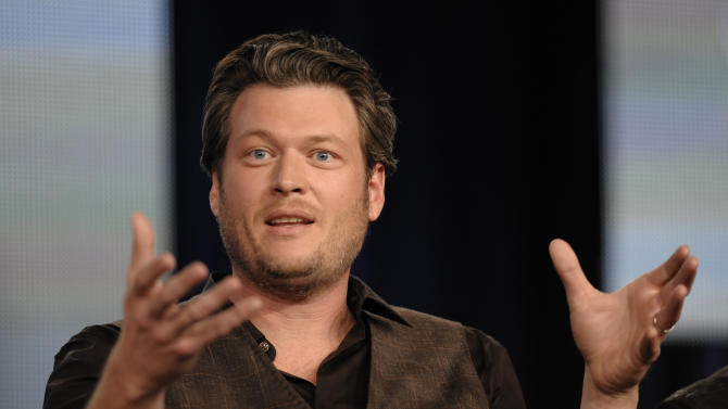 "FILE - In this Jan. 6, 2012 photo, Singer Blake Shelton speaks during the panel discussion for the reality series ""The Voice"" at the Television Critics Association Winter Press Tour for NBC Universal in Pasadena, Calif.    Shelton's father has died, forcing ""The Voice"" star to reschedule several tour dates.  A news release says Dick Shelton died Tuesday, Jan. 17, 2012,  surrounded by loved ones in Oklahoma. The elder Shelton had been in declining health. Blake Shelton dedicated his win at last month's American Country Awards to his father, who was hospitalized with pneumonia.  Shelton thanked fans: ""Your support means the world to me. I love you guys.""(AP Photo/Dan Steinberg)"