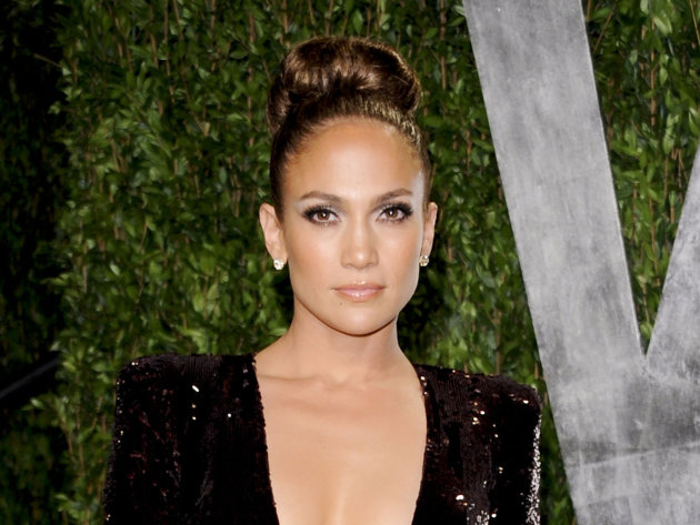 FILE - In this Feb. 26, 2012 file photo, actress and singer Jennifer Lopez arrives at the Vanity Fair Oscar party in West Hollywood, Calif.  ABC Family announced Thursday, Aug. 23, 2012 that it has gr