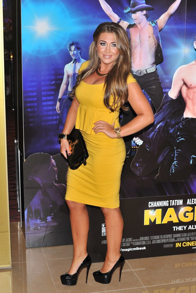 Lauren Goodger at the Magic Mike premiere