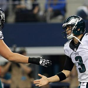 Philadelphia Eagles quarterback Mark Sanchez runs in for a 2-yard touchdown
