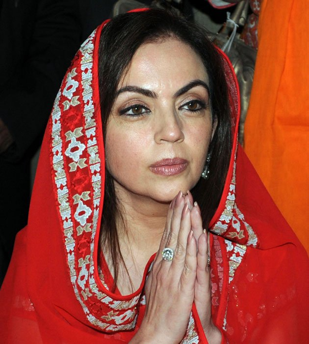 Nita Ambani prays