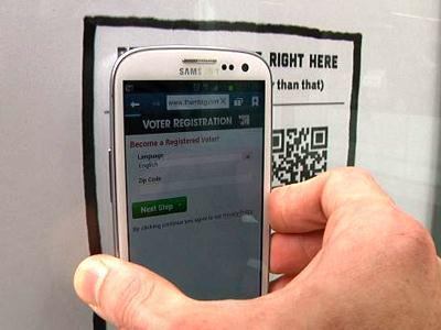 NFC-enabled ads to ease voter registration