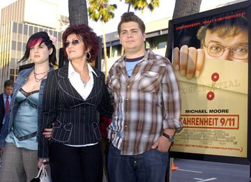Premiere: Kelly Osbourne, Sharon Osbourne and Jack Osbourne at the Beverly Hills special screening of Lions Gate Films' Fahrenheit 9/11 - 6/8/2004 