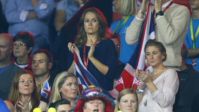 Men's Singles - Kim Murray wife of Great Britain's Andy Murray watches during his match against Belgium's Ruben Bemelmans