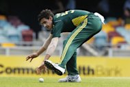 Australia&#39;s Mitchell Starc during a one-day international match in Brisbane in 2010. Cricket Australia Wednesday denied having anything to do with Starc being thrown out of Britain, as the fast bowler attempted to play down the visa problems that saw him deported