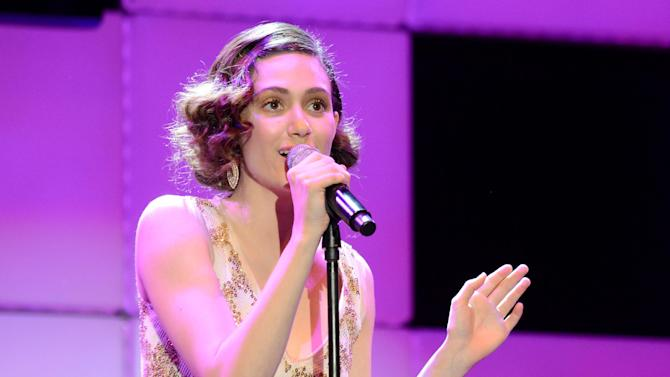 Actress Emmy Rossum performs at the 21st Annual 'A Night at Sardi's' to benefit the Alzheimer's Association at the Beverly Hilton Hotel on Wednesday, March 20, 2013 in Beverly Hills, Calif. (Photo by Jordan Strauss/Invision for Alzheimer's Association/AP Images)