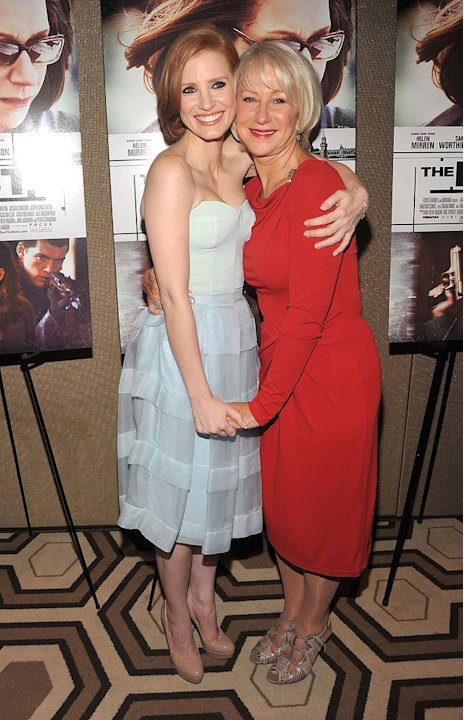 The Debt NY Screening 2011 Jessica Chastain Helen Mirren