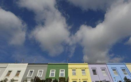 A residential street is seen in Notting Hill in central London