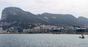 The bay of Algeciras and the Rock of Gibraltar on August 22, 2013