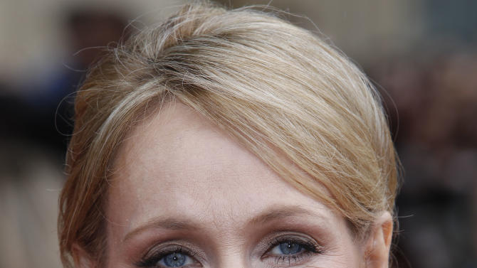 """FILE - In this  July 7, 2011 file photo, British author JK Rowling arrives in Trafalgar Square, in central London, for the World Premiere of """"Harry Potter and The Deathly Hallows: Part 2,"""" the last film in the series. This fall, British writer J.K. Rowling plans to make her one and only in-person appearance in the U.S. to promote her first novel for adults. The """"Harry Potter"""" author will discuss """"The Casual Vacancy"""" at New York's Jazz at Lincoln Center on Oct. 16. The venue can seat about 1,100 people.  Little, Brown and Company announced Wednesday, Aug. 23, 2012, that Rowling will be interviewed on stage by fellow author Ann Patchett and will take """"select"""" audience questions. (AP Photo/Joel Ryan, file)"""