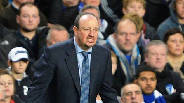 Rafa Benitez during Chelsea's Premier League game against Manchester City (Reuters)