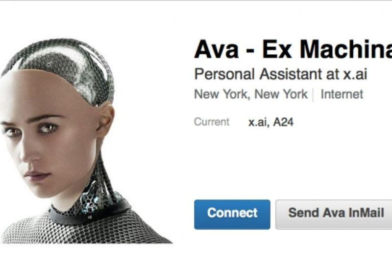 The robot from Ex Machina is now a personal assistant on LinkedIn