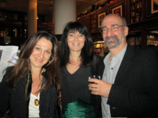 Susan Shapiro (center) with psychiatrist Sheri Spirt and Jungian astrologist Bob Cook. Photo courtesy of Susan Shapiro.