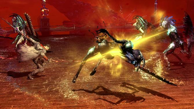 """This video game image released by Capcom shows a scene from """"DmC: Devil May Cry."""" (AP Photo/Capcom)"""