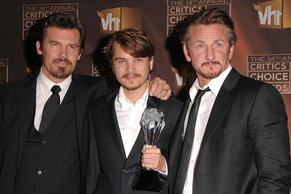 14th Annual Critics' Choice Awards 2009 Josh Brolin Emile Hirsch Sean Penn