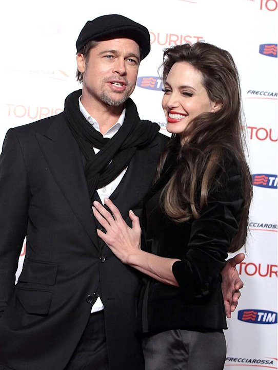 Pitt Jolie The Tourist Rome Pr