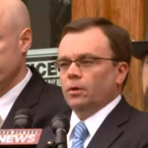 Prosecutor speaks after Eric Frein's arraignment