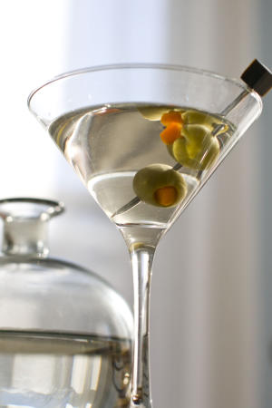 In this Feb. 13, 2012 photo taken in Concord, N.H., a classic martini made with gin and vermouth is shown. (AP Photo/Matthew Mead)