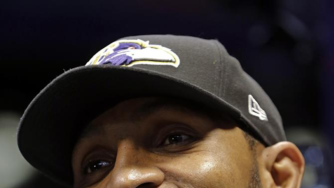 Baltimore Ravens linebacker Ray Lewis smiles during media day for the NFL Super Bowl XLVII football game Tuesday, Jan. 29, 2013, in New Orleans. (AP Photo/Mark Humphrey)