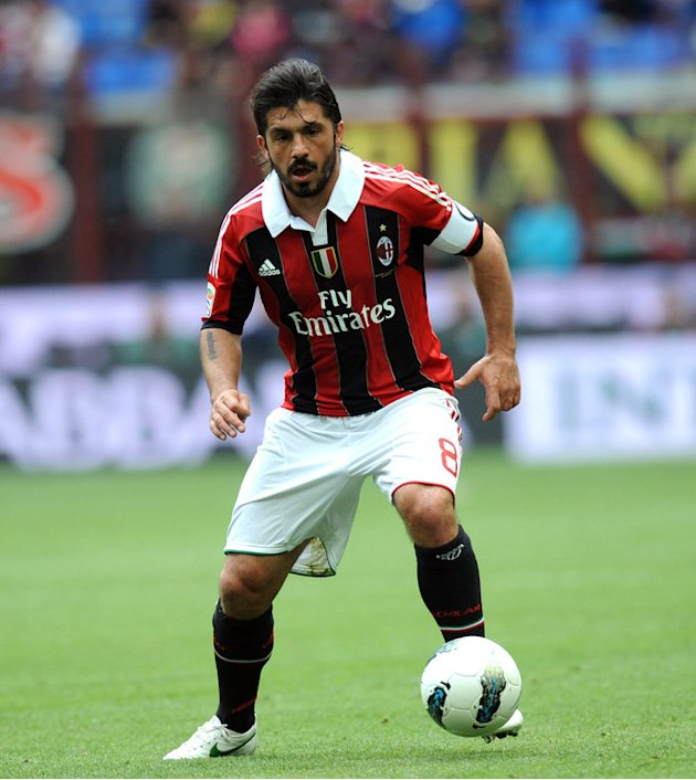 AC Milan's  Gennaro Gattuso Controls AFP/Getty Images