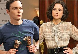 Jim Parsons, Julia Louis-Dreyfus | Photo Credits: Monty Brinton/CBS; Bill Gray/HBO