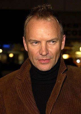 Sting at the LA premiere of Miramax's Kate & Leopold
