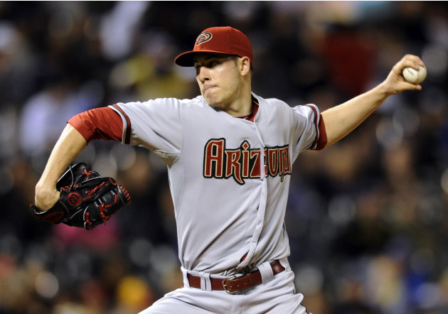 Arizona Diamondbacks starting pitcher Patrick Corbin throws to the plate against the Colorado Rockies during the seventh inning of a baseball game on Monday, May 20, 2013, in Denver. (AP Photo/Jack De