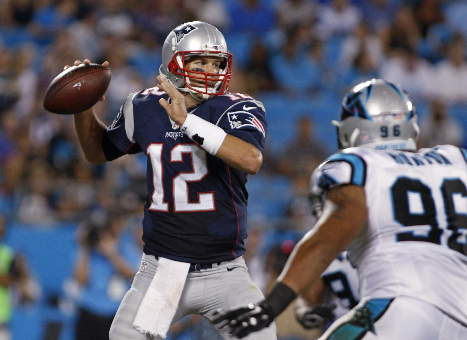 Brady throws 2 INTs, 1 TD, Patriots beat Panthers 17-16