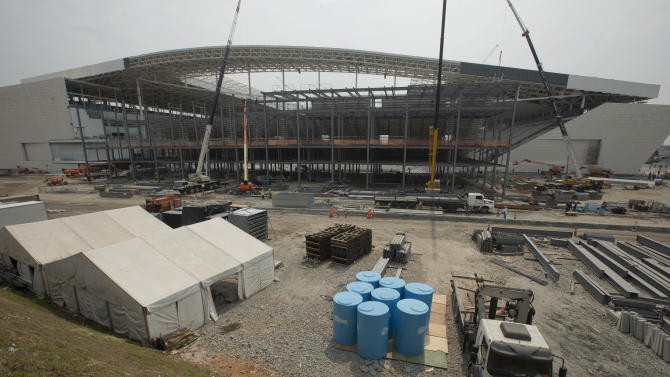 Delayed stadium opens World Cup in Sao Paulo