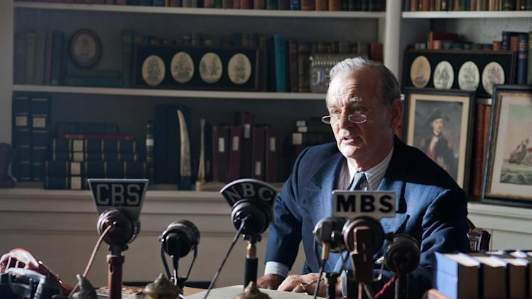 """FILE - This undated publicity film image released by Focus Features shows Bill Murray as Franklin D. Roosevelt in a scene from """"Hyde Park on Hudson."""" (AP Photo/Focus Features, Nicola Dove, File)"""
