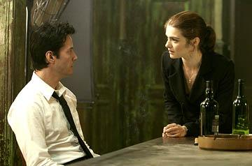 Keanu Reeves and Rachel Weisz in Warner Bros. Constantine