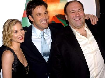 Premiere: Christina Applegate, Ben Affleck and James Gandolfini at the Hollywood premiere of Dreamworks' Surviving Christmas - 10/14/2004