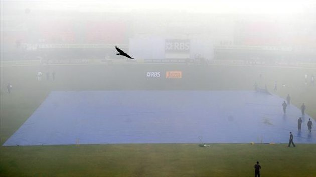 The inclement weather dented any hopes of play at the Punjab Cricket Association Stadium.