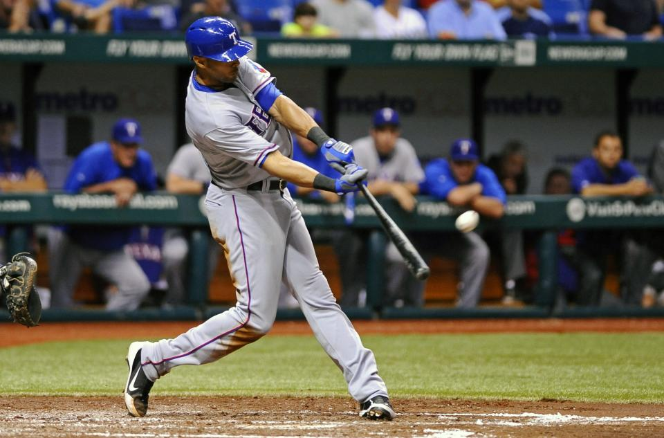 Rangers beat Rays 8-2, teams tied atop wild card