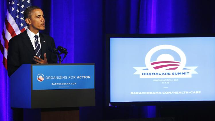 File photo of U.S. President Obama delivering remarks on Obamacare at an Organizing for Action grassroots supporter event in Washington