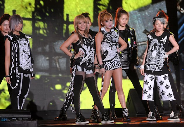 Formed in 2009, 2NE1 consists of four members CL, Minzy, Dara and Bom (Getty Images)