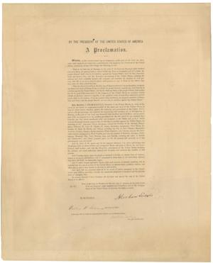 This undated photo provided by Seth Kaller, Inc., shows a rare original copy of President Abraham Lincoln's Emancipation Proclamation which sold Tuesday, June 26, 2012, at a New York auction for more than $2 million. It's the second-highest price ever paid for a Lincoln-signed proclamation - after one owned by the late Sen. Robert Kennedy that went for $3.8 million two years ago. (AP Photo/Seth Kaller, Inc.)