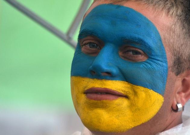 A Ukrainian Soccer Fan Smiles AFP/Getty Images