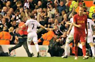 David Templeton ran towards supporters after scoring Hearts' goal at Anfield