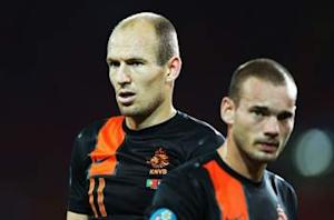 Sneijder and Robben omitted from Netherlands squad for Italy friendly