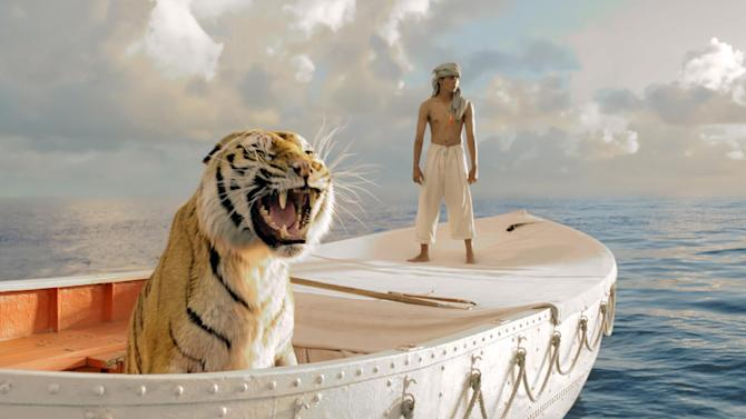 "This film image released by 20th Century Fox shows Suraj Sharma in a scene from ""Life of Pi."" Ang Lee's ""Life of Pi"" will open the 50th annual New York Film Festival.  The Film Society of Lincoln Center announced Monday that Lee's adaptation of the acclaimed novel by Yann Martel will premiere at the festival on Sept. 28. (AP Photo/20th Century Fox, Jake Netter)"