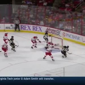 Cam Ward Save on David Perron (11:28/1st)