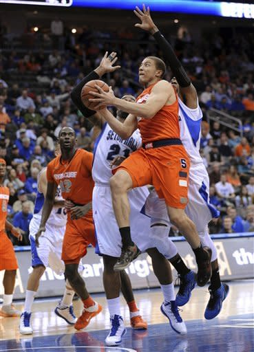 Triche leads No. 6 Syracuse over Seton Hall 76-65