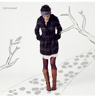tall boots tights skirt