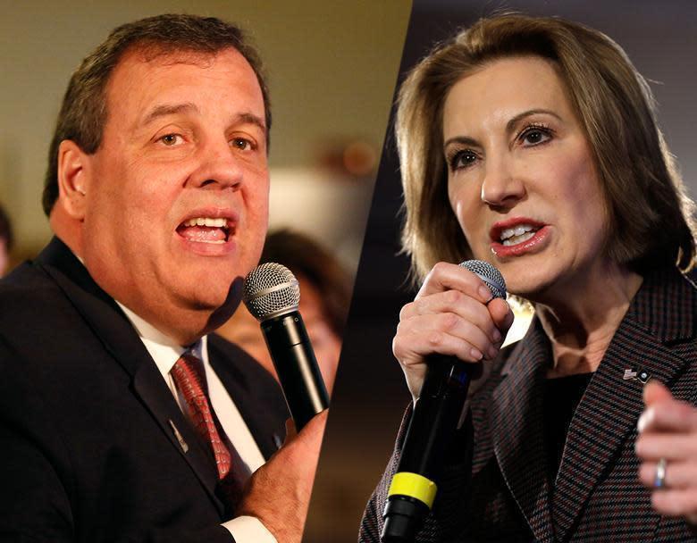 Christie, Fiorina drop GOP presidential bids