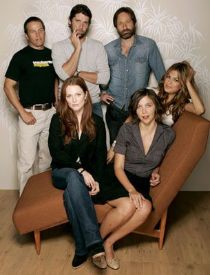 James LeGros, director Bart Freundlich, David Duchovny, Julianne Moore, Maggie Gyllenhaal and Eva Mendes