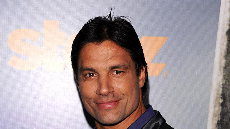 "Manu Bennett attends the Starz Original Series ""Spartacus: Vengeance"" Premiere Event at ArcLight Cinemas Cinerama Dome on January 18, 2012 in Hollywood, California."