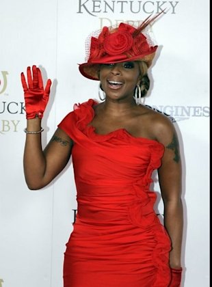 mary j, blige at the kentucky derby